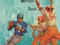 Sept. 26, 1969, Marion Giants football game program cover