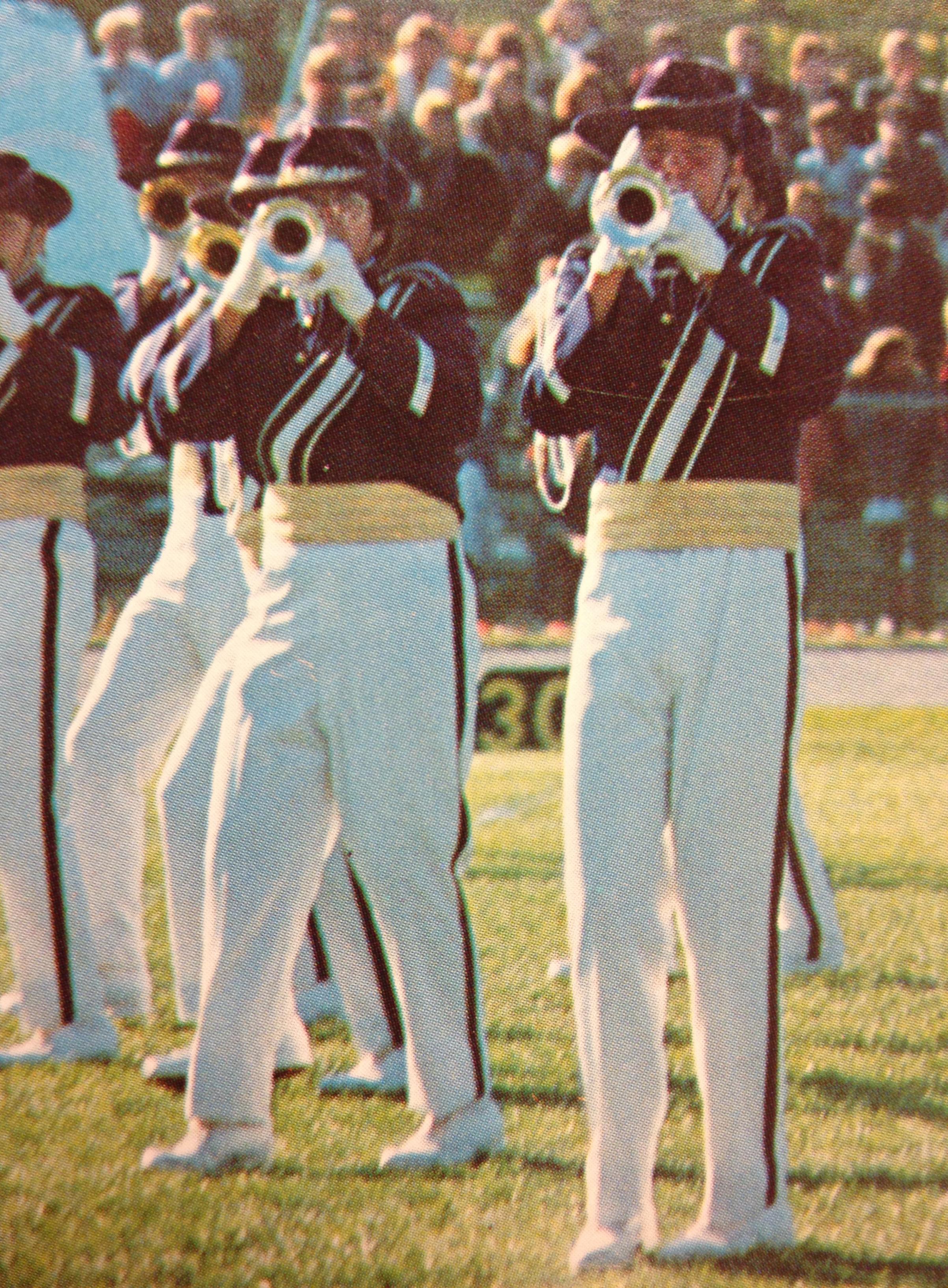 Trumpets sound