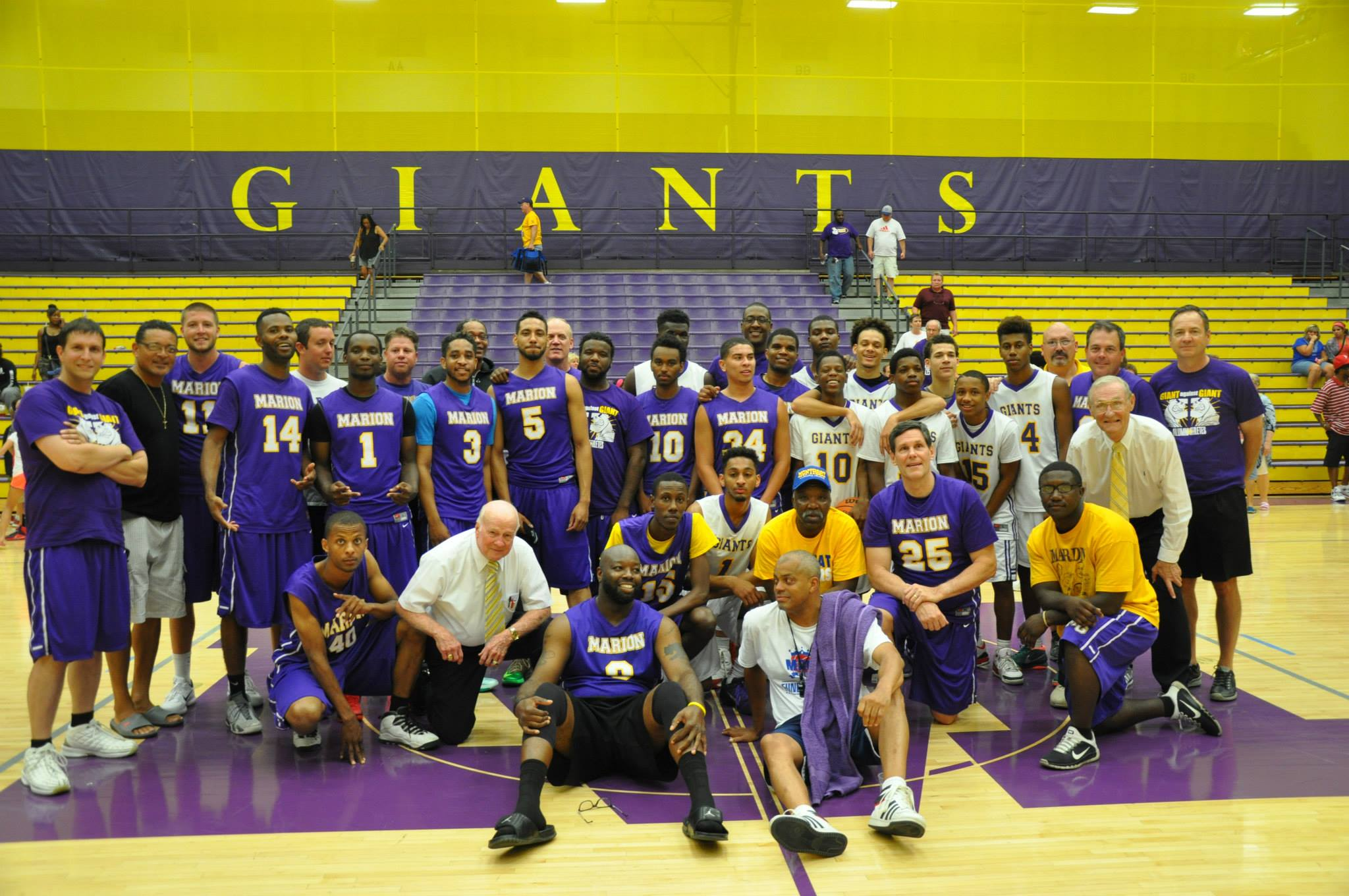 Giant Challenge 2015 boys basketball teams