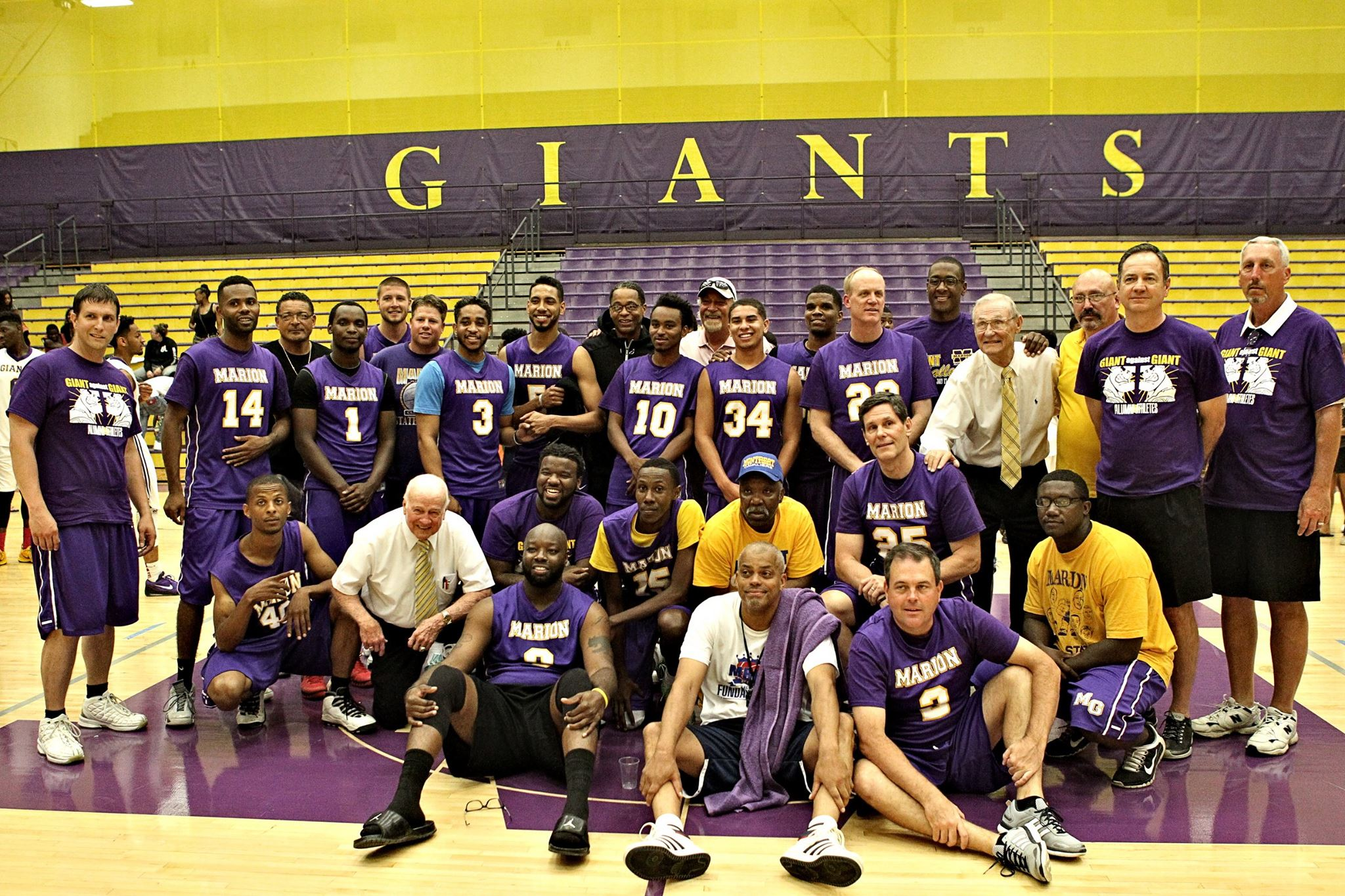 Giant Challenge 2015 boys basketball alumni teams