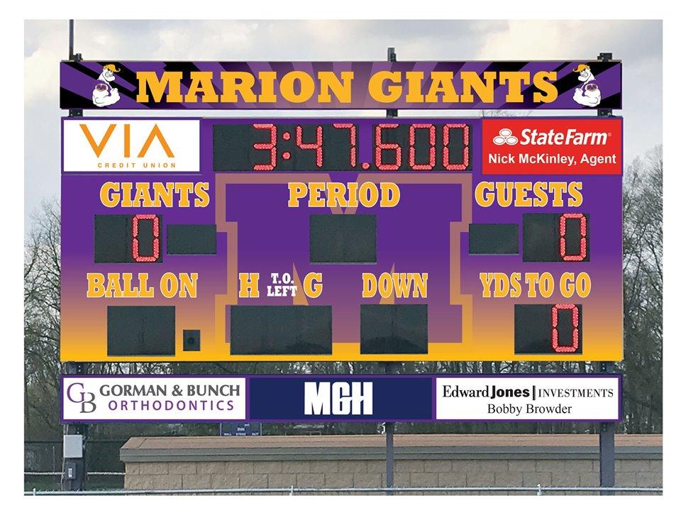 Dick Lootens Stadium - scoreboard facelift