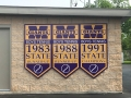 Baseball title banner display