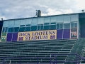 Dick Lootens Stadium - new signs on the press box