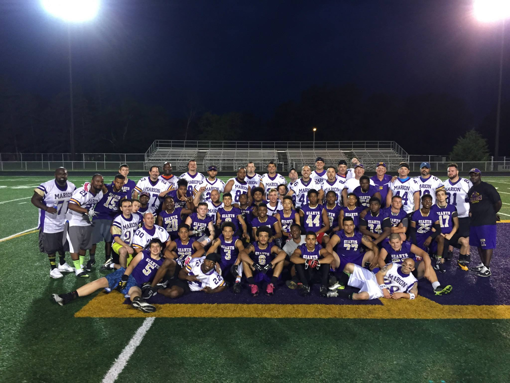 Giant Challenge 2015 football teams