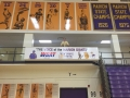 Bill Green Arena banners and plaques